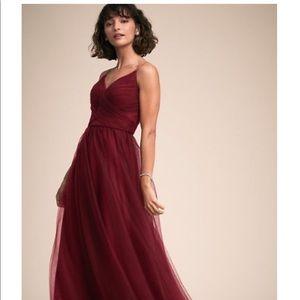 NWT BHLDN Camden Dress: bordeaux, burgundy, wine